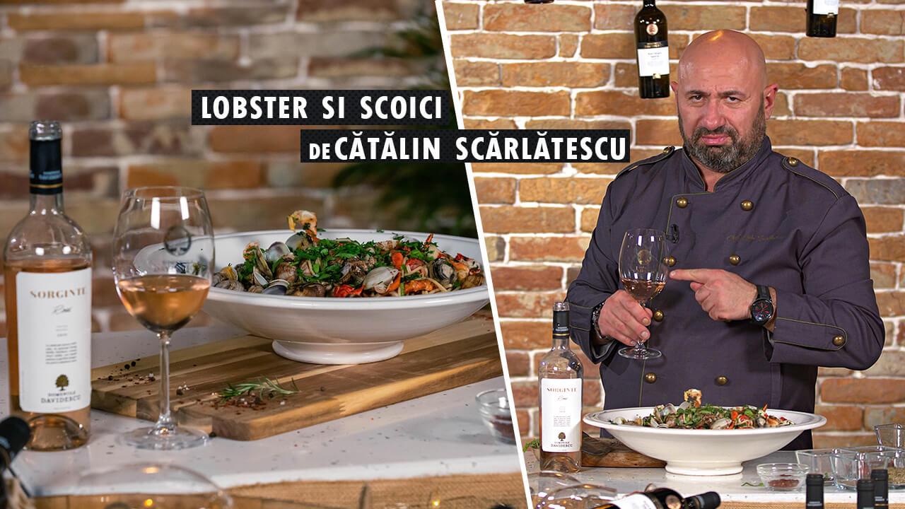 Rose Sorginte & Lobster și Scoici cu spaghete și busuioc